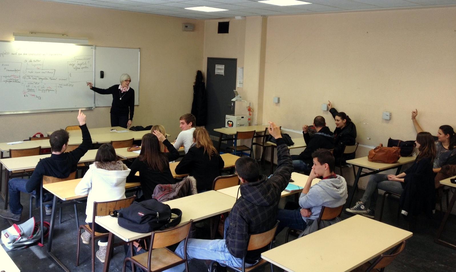 Annemarie Richard is teaching the graduating class in German