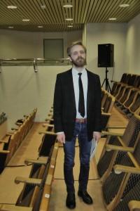 Julius Agliuskas is a music composition student in his last year. Picture by Alejandro Izquierdo