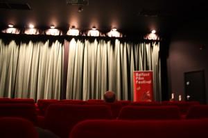 One of the screens at Queens Theatre. Photo Natalija Sako