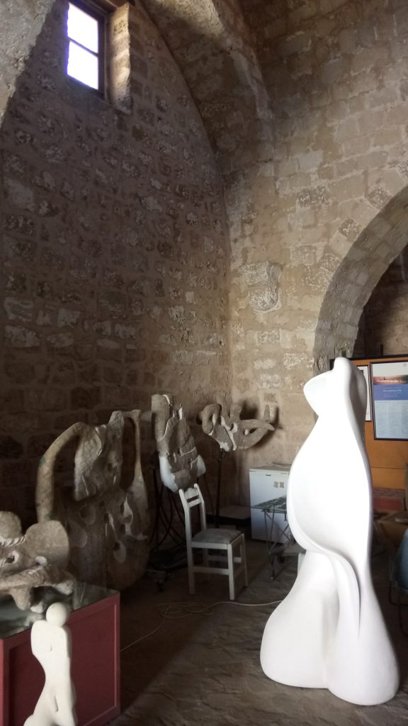 Baki Boğaç's studio in Famagusta where the ghosts from the past seem to inspire the artist.